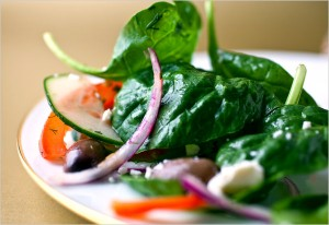 Greek Salad with Spinach