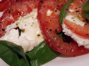 tomato basil mozzarella salad