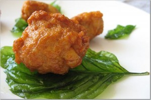 fried basil leaf