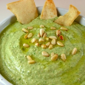 basil hummus