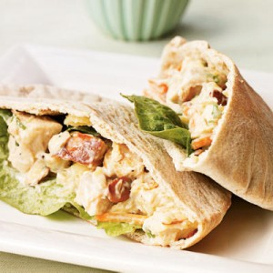 spicy chicken pita