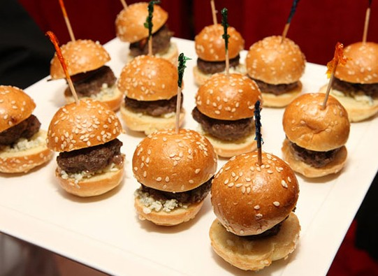 ... and cheese oyster slider blue cheese dip andouille blue cheese sliders
