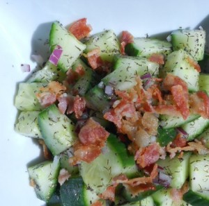 Cucumber Bacon Salad