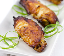 garlic miso chicken wings