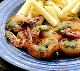 cumin coated shrimp