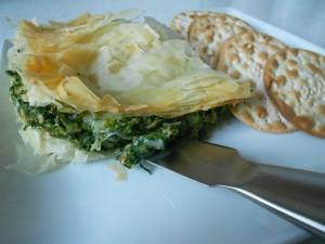 Spinach Pesto Brie stuff Fillo
