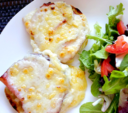 croque-monsieur muffins