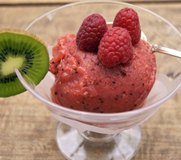 kiwi raspberry sorbet