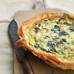 filo dough quiche