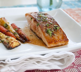 salmon with maple chipotle sauce