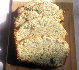 poppy seed loaf w/ dried cranberries