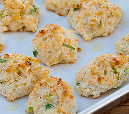 cheddar garlic and green onion biscuits