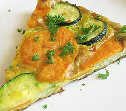 sweet potato zucchini and leek frittata