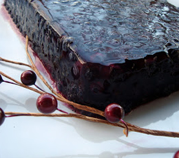 Sparkling Lemon and Blueberry Terrine