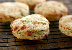 cheddar, jalepeno, and dill-scones